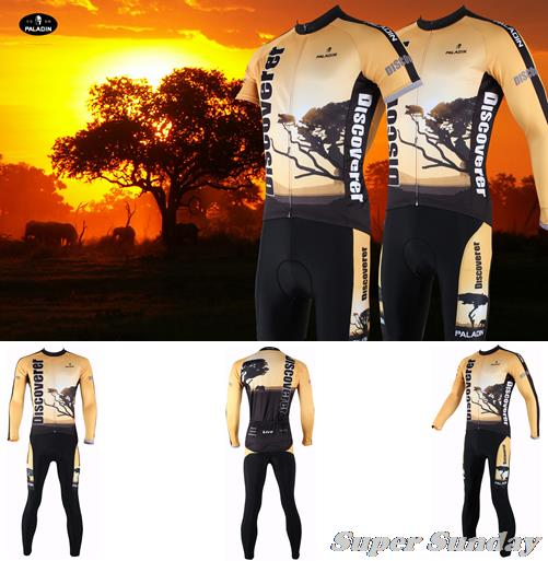 High Quality Cycling Jerseys Autumn Cycling Suits Long Sleeve Bike Jersey  Men's Winter Fleece Racing Clothes Free Shipping