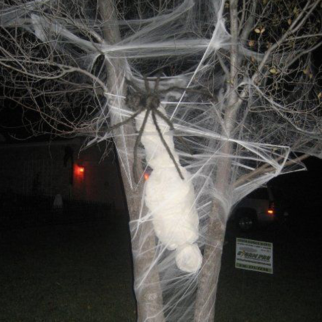 Spider Webs Halloween Decorations Part - 30: Buy 3 Bags Get 1 Free Halloween Spider Web 20g With Spiders Multi Colored  Webbing For