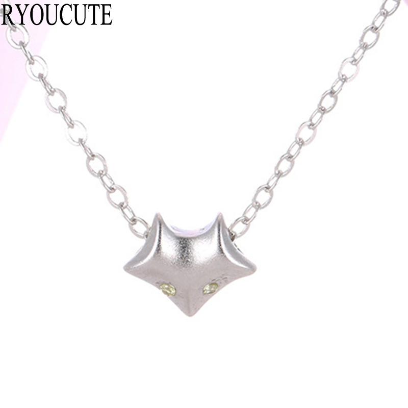 New Arrivals 925 Sterling Silver Fox Necklaces Pendants for Women Wedding Jewelry Fashion sterling-silver-jewelry
