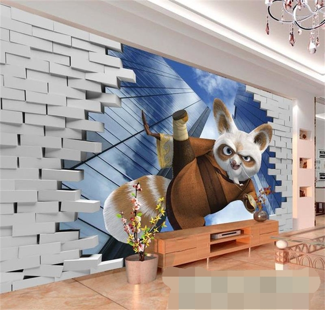 3D Wall Painting 3d kids baby room wallpaper custom photo murals non woven wall