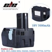 18V 5000mAh Li ion Battery for HITACHI 5.0Ah BCL1815 BCL1830 EBM1830 EBM1840 327730 Rechargeable Power Tool Battery & 3.0ah