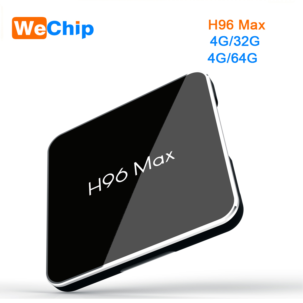 10PCS/LOT H96 MAX Android TV Box Android 8.1 4G 64G Amlogic S905X2 LPDDR4 BT 4.0 Dual Wifi 4G 32G Ott TV Box 4K HD Set top box