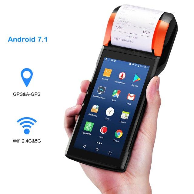 Sunmi V2 Android 7,1 PDA altavoz térmica impresora de recibos 4G WiFi escáner Cámara eSim ranura para tarjeta móvil orden de pago terminal de POS