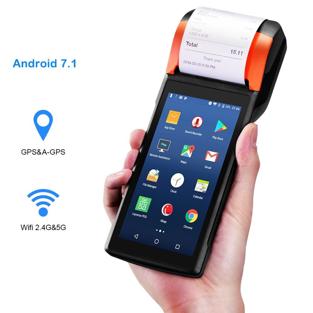 Sunmi V2 Falante Android 7.1 PDA Impressora Térmica de Recibos 4G Wi-fi do Scanner Câmera Slot Para Cartão eSim Ordem de Pagamento Móvel terminal POS