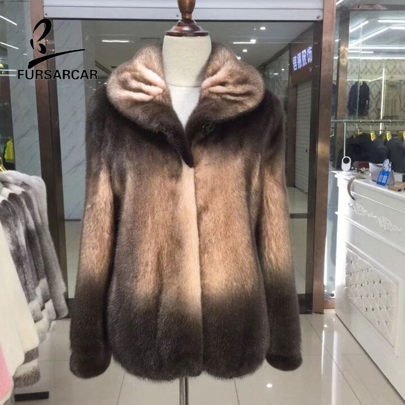 Réel Col Show Femmes Fourrure Cuir De Manteau D'hiver Vison Avec Fursarcar Outwear As En Véritable Chaud Russie Fremale Pour LSGzUMqpV