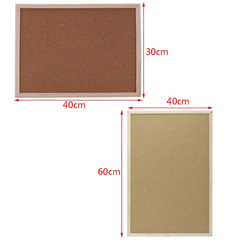 40x60cm Cork Board Drawing Board Pine Wood Frame White Boards Home Office Decorative 2