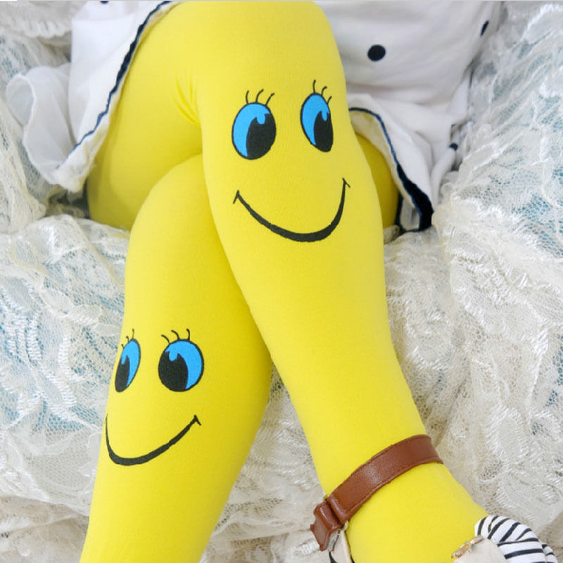 Pudcoco New Cute Smile Face Tights Stockings Baby Girls Stocking Dancing Children Tights Trousers Pantyhose