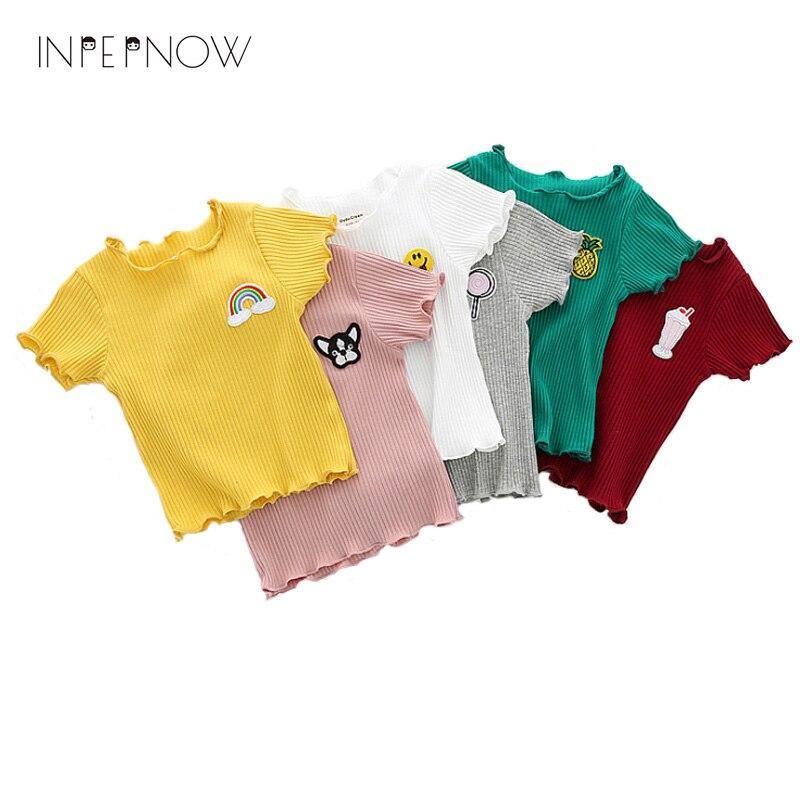 INPEPNOW Girls Tshirt Odzież dziecięca Topy dla dzieci Odzież - Ubrania dziecięce - Zdjęcie 1