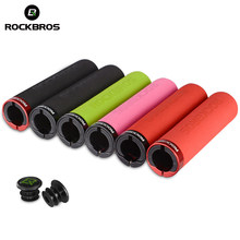 ROCKBROS Bicycle Grips MTB Silicone Sponge Handlebar Grips Anti-skid Shock-absorbing Soft Bike Grips Ultraight Cycling Handlebar(China)