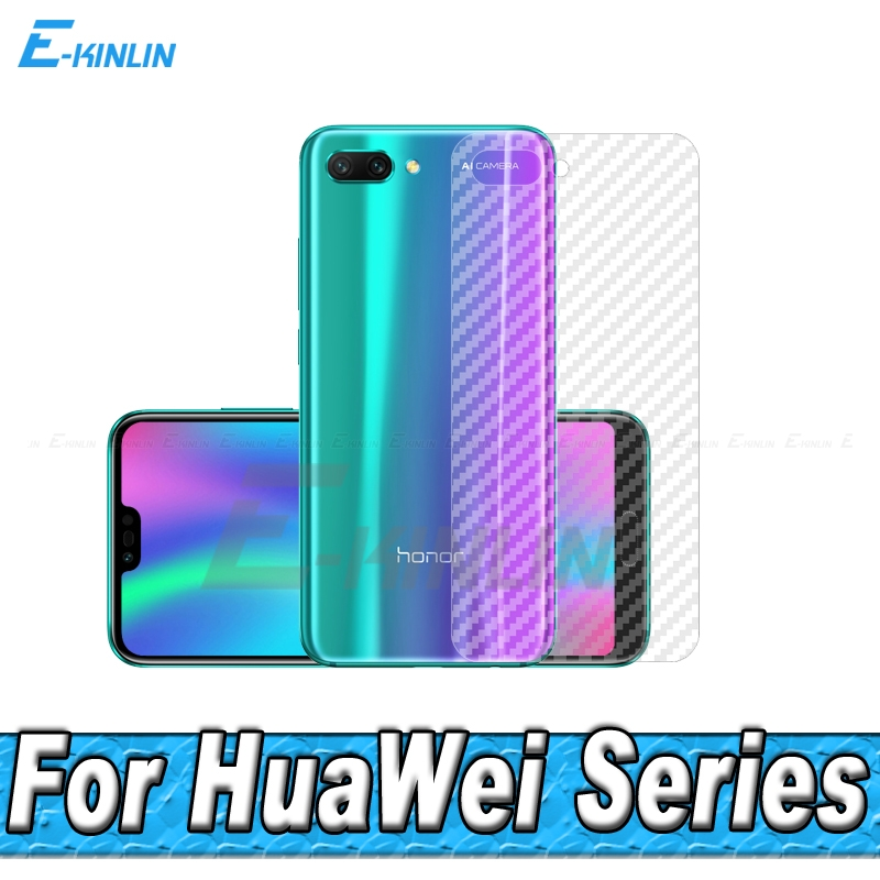 3D Carbon Fiber Rear Screen Protector For HuaWei Honor 9X 10 8X Max 9 8 Lite 7S Pro 7X Back Cover Protective Film Not Glass