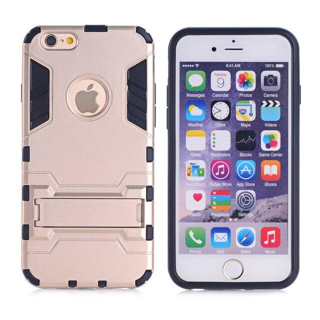 Fur IPhone 6 Plus S Telefon Fall Tough Armor Cases Halterung Stander Design