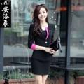 2016 conjunto mesa jupe señoras trajes de oficina diseños de uniformes de oficina de las mujeres elegantes trajes de falda trajes de negocios