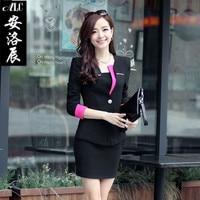 2016 ensemble bureau jupe office ladies suits office uniform designs women elegant skirt suits business suits