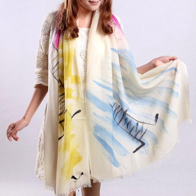 2013 women's ultra pure wool long scarf intellectuality goldenbarr cape