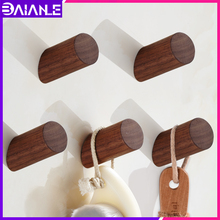 Robe Hook Wall Mounted Wood Coat Hooks Rack Decorative Bathroom for Towels Key Bag Caddy Clothes Accessories