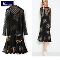 suit Luxury  Dress Women deepV- Neck Womens Elegant Delicate Floral Lace Casual Party Evening Bodycon Special Occasion
