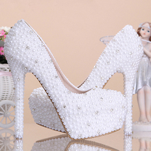 Fashion Wedding Shoes Beautiful Luxurious Honeymoon 5 Inches Heel Wedding Bridal shoes Party Prom Dress Shoes Bridesmaid Shoes