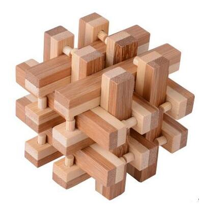 US $2 99 |2017 New IQ Bamboo Interlocking Burr Puzzle 3D Brain Teaser  Puzzles Game Solution Toys for Adults Kids -in Puzzles from Toys & Hobbies  on