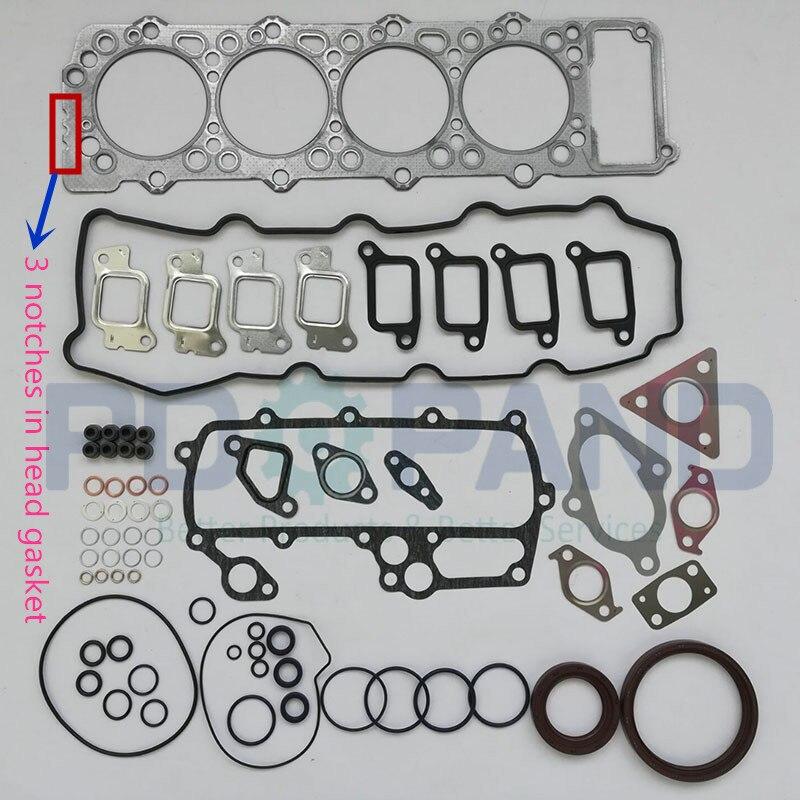4M40 4M40T 4M40-T Set Completo di Revisione del Motore Ricostruire Kit guarnizioni ME996729 Per Mitsubishi Pajero Montero Shogun Canter 2.8D/TD