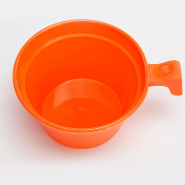 Tw-404 Portable Plastic Coffee Cup Size Of  The 175ml Gray/orange  Outdoor Travel Picnic Camping Cookware