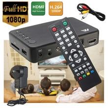 Full 1080P HD Multi Media Player HDMI/VGA/AV w/ Remote Control TV BOX 3 FAT32 NTFS Output EU/UK/US/AU Portable Easy Installation