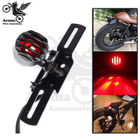 Top Quality Motorcycle Tail Brake Light For Harley Parts Universal Rear Stop Signal With License Plate