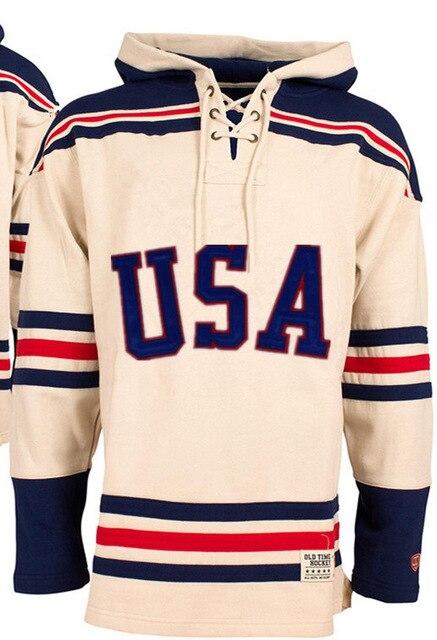 1980 чудо на льду команды США Хоккей Толстовка личность Настроить любое имя любой Numeber сшитые мужской свитер Хоккей трикотаж