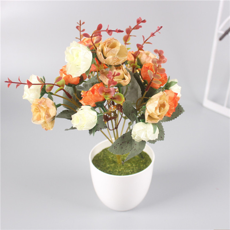 Artificial Vase Plastic With Foam Filler Diy Accessories All Kinds Of Fake Flowers Decoration For Home Wedding Christmas In Dried