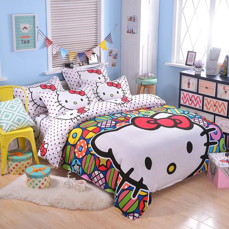 Lindo edredón conjunto ropa de cama para niño o niñas solo tamaño - a413