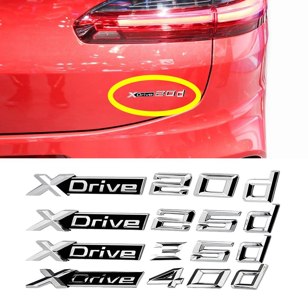 1-40 pcs Car Trunk Fender Logo Decor Sticker Xdrive 20d 25d 35d 40d 50d For BMW X1 X5 X6 E39 E36 E53 E60 E90 F10 E46 Car Tuning title=