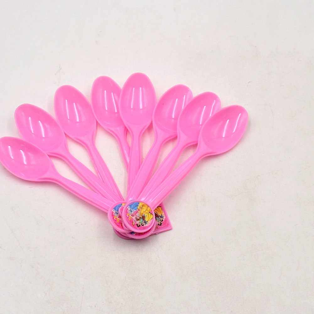 10pcs Princesses Plastic Spoons Birthday/Christmas/Festival Cinderella Ariel Theme Decoration Baby Shower Party Supplies