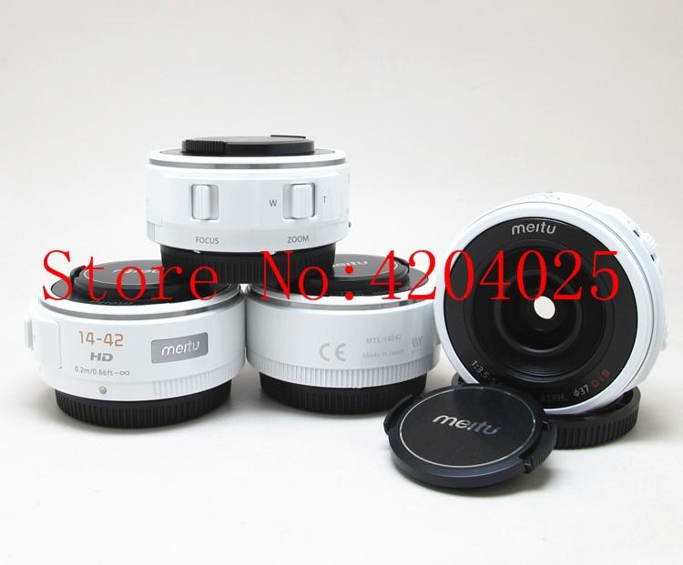 Brand New Meitu 14-42 F3.5-5.6 ASPH OIS Zoom Lens For Panasonic For Olympus Micro 4/3 SLR Camera 14-42MM GF3 GH4 GF9