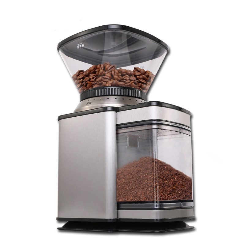 COffee Grinder CJ-091 make coffee beans head towards grindinh storehouse slowly professional for precise modulation of coffee
