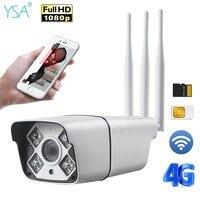 3G 4G SIM Card Security IP Camera Outdoor Bullet Wifi Camera 1080P HD IR Night Vision Waterproof GSM CCTV Surveillance Cam