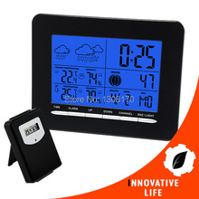 Digital Indoor/Outdoor Wireless Wallmount Weather Station Temperature C / F RCC DCF Radio Controlled Clock Date Calendar