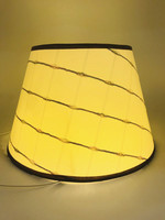 Lamp shade for table lamp Art Deco stripes Pattern PVC lamp cover Fashionable Decorative E27 bedroom table lampshade