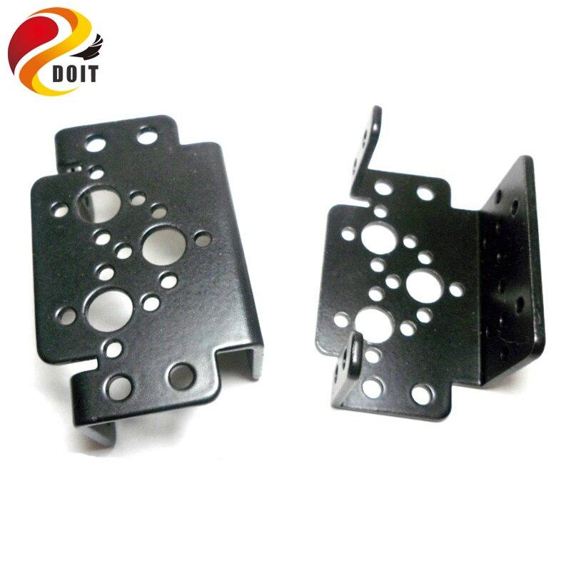 Original DOIT 10pcs/pack Aluminum Multipurpose Bearing Brackets For Standard Servo Robot Arm Mechanical Robot Mount Paw RC Toy