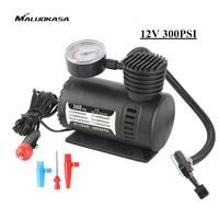 MALUOKASA 12V Mini Air Compressor For Car 300 PSI Inflatable Moto Pump Bomba De Air Bike