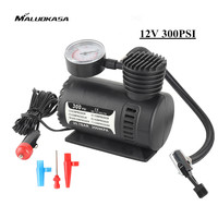 MALUOKASA 12V Mini Air Compressor For Car 300 PSI Inflatable Moto Pump Bomba De Air Bike