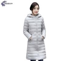 TNLNZHYN NEW Women Clothing Warm Cotton Coat Winter Fashion Big Yards Long Sleeve Hooded High End