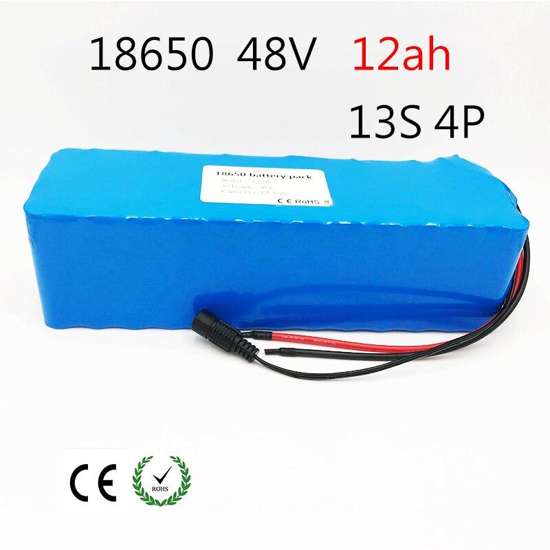 Laudation 48 v 12ah bici elettrica della batteria 18650 ricaricabile battery pack Con 2A caricatore built-in 15A BMS Per biciclette elettriche