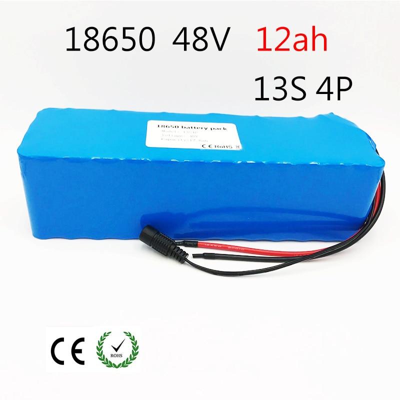 Louanges 48 v 12ah vélo électrique batterie 18650 batterie rechargeable pack Avec 2A chargeur intégré 15A BMS Pour vélos électriques