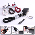 Car Styling Braided Leather Strap Keychain + Screwdriver Car Key Chain Ring Fob For BMW VW Audi Toyota Honda Ford Key Holder