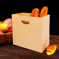 Elegent Big Capacity Kraft Reticule Bag Baking Dessert Bread Packing Bags Food Wrapping Tools Disposable Wrapping Suppliers