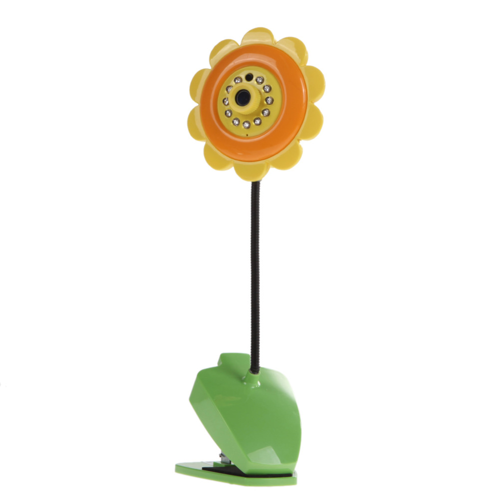 DIU# Sunflower design wireless camera baby monitor for Home Security with Wifi Camera DVR Night Vision Orange