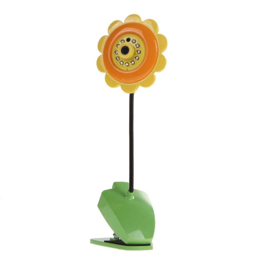DIU# Sunflower design wireless camera baby monitor for Home Security with Wifi Camera DVR Night Vision Orange diu wonderful r