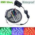 RiRi Won  SMD 5050 waterproof led strip light RGB 5M Led Tape RGB DC 12V led ribbon+Remote Controller+12V 3A Power