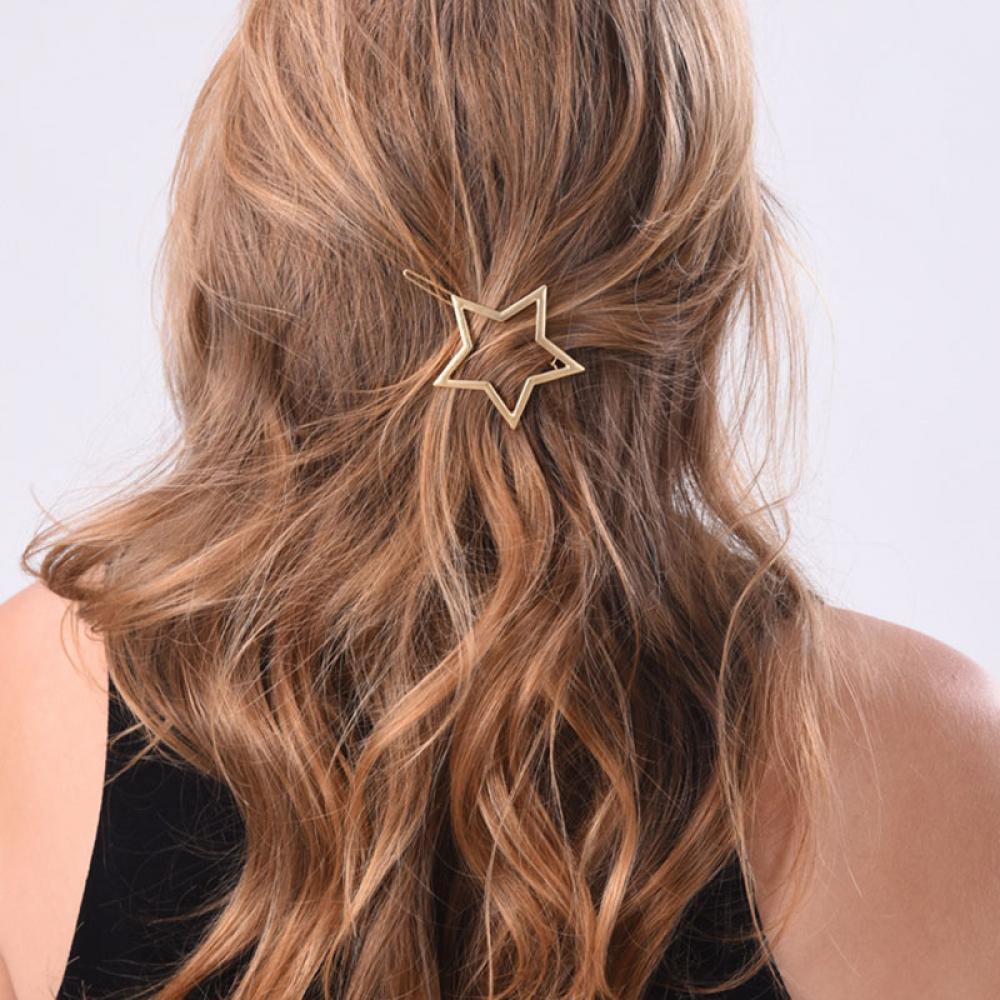 1PC NEW Fashion Women Girls Star Heart Hair Clip Delicate ...