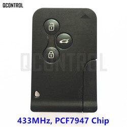 Qcontrol 3 Пуговицы автомобиль дистанционного Smart Key костюм для Renault Megane Scenic 433 мГц с 7947 чип