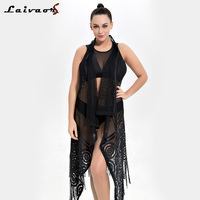 Sexy Bikini Cover Up Lace Hollow Crochet Swimsuit Beach Dress Women 2018 Summer Ladies Cover Ups Bathing Suit Beachwear Robe
